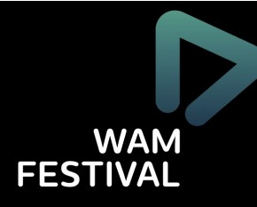 WAM Festival on black WAMplifier shape