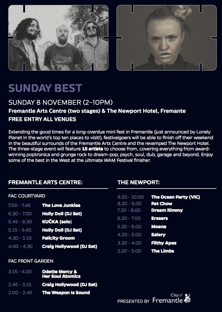 Sunday Best Playing times crop