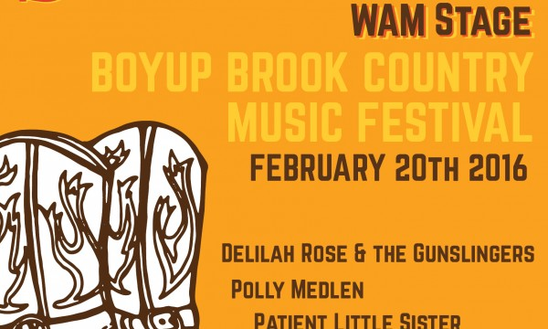 Boyup Brook Country Music Festival incl Western Saloon WAM Stage