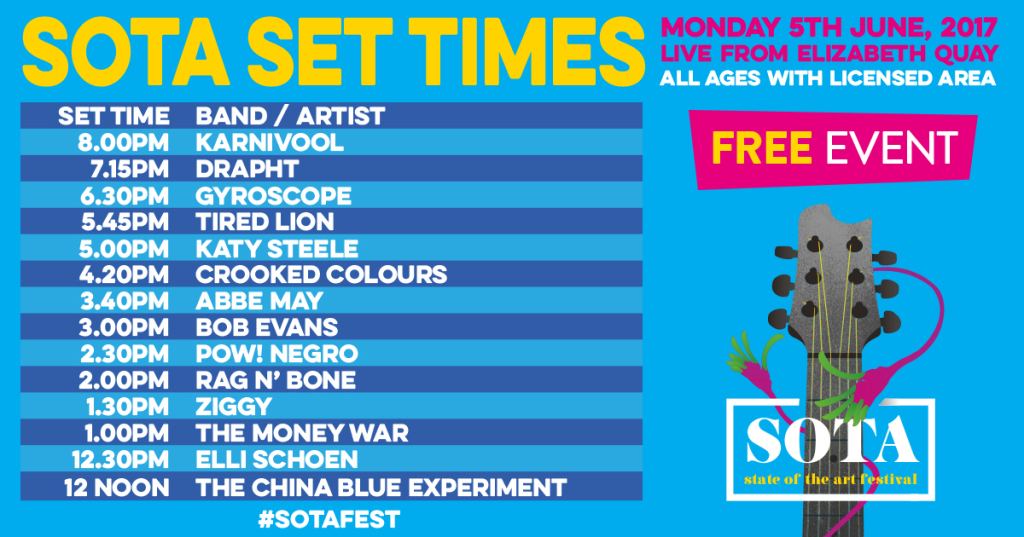 SOTA Playing Times 2017