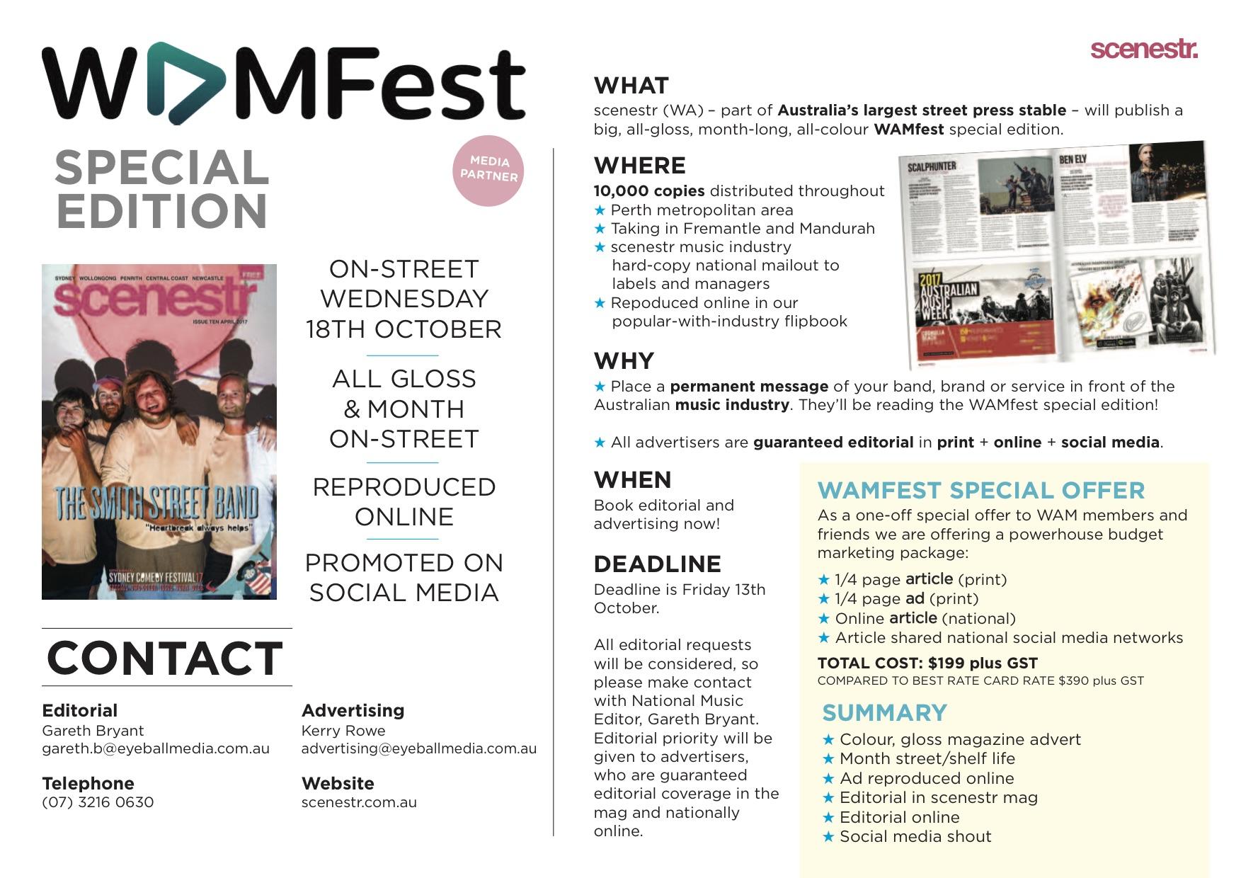 scenestr wamfest deal