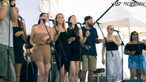 Photo of Coin Banks and the WAAPA Choir by Alex McLernon