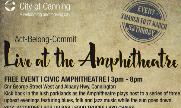City of Cannington Presents Live at the Amphiteatre