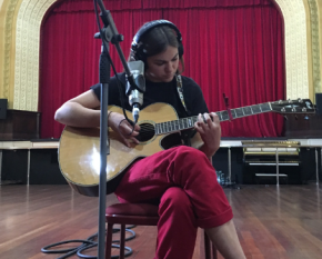 Georgia McAlpine (Demos from The Wheatbelt artist from Buntine), photographed at The Cumins Theatre