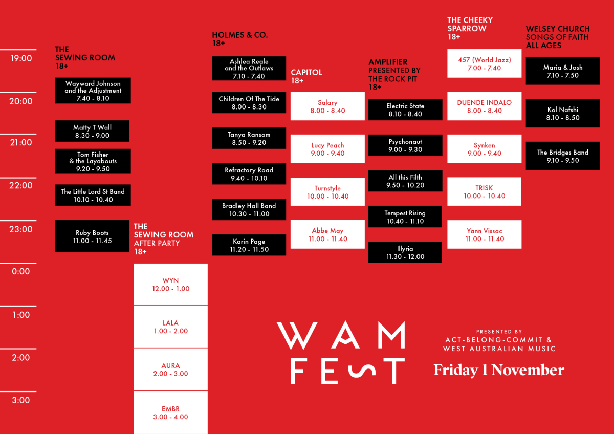 wamfest19_flyer_timetable_FridayA4_V1b