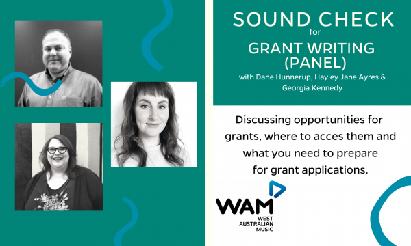 Sound Check for Grant Writing (Panel)