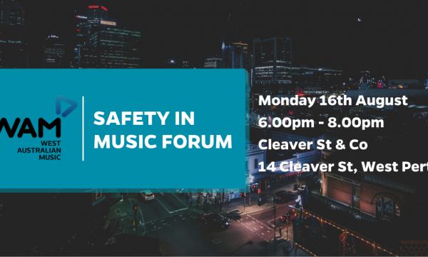 WAM Safety In Music Forum